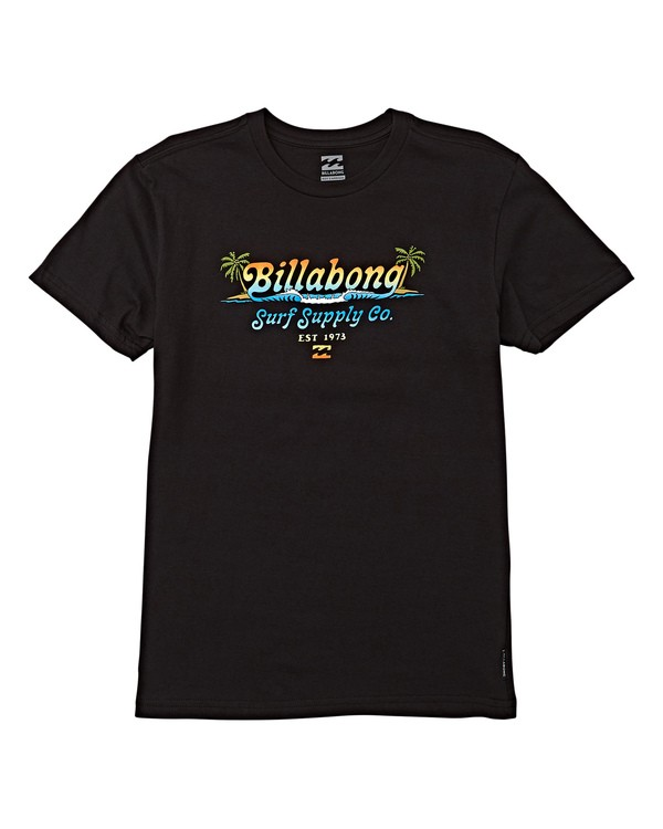 0 Boys' Lowtide Short Sleeve T-Shirt Black B404WBSK Billabong