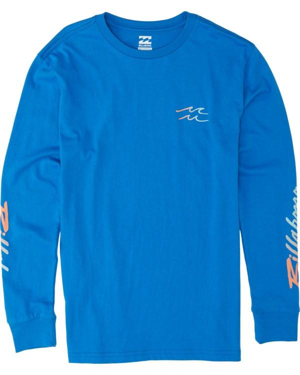 0 Boys' Riptide Long Sleeve T-Shirt Blue B4051BRT Billabong