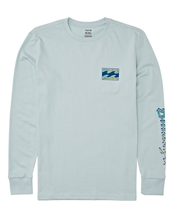0 Boys' Seventy Three Long Sleeve T-Shirt Blue B4052BST Billabong