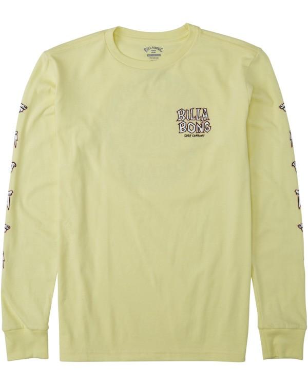 0 Boys' Jaws Long Sleeve T-Shirt Yellow B4053BJA Billabong