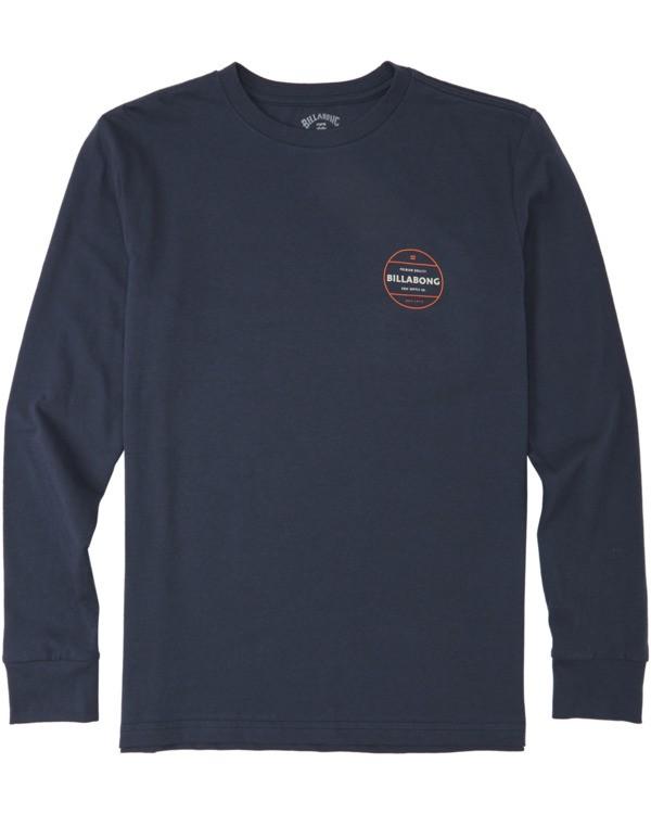 0 Boys' Rotor Long Sleeve T-Shirt Blue B4053BRO Billabong