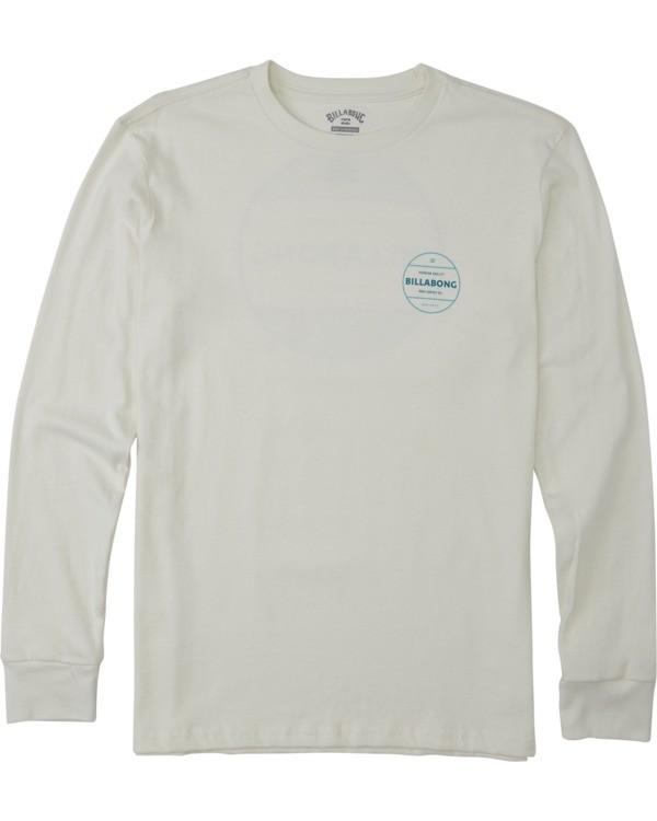 0 Boys' Rotor Long Sleeve T-Shirt White B4053BRO Billabong
