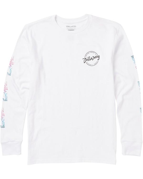 0 Boys' Eighty Six Long Sleeve Tee Shirt White B405SBES Billabong