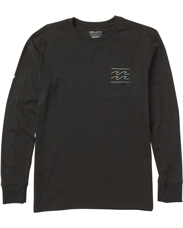 0 Boys' Unity Sleeves Long Sleeve Tee Shirt Black B405SBUS Billabong