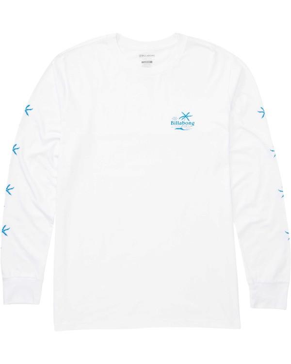 0 Boys' Surf Club Long Sleeve Tee White B405TBSC Billabong