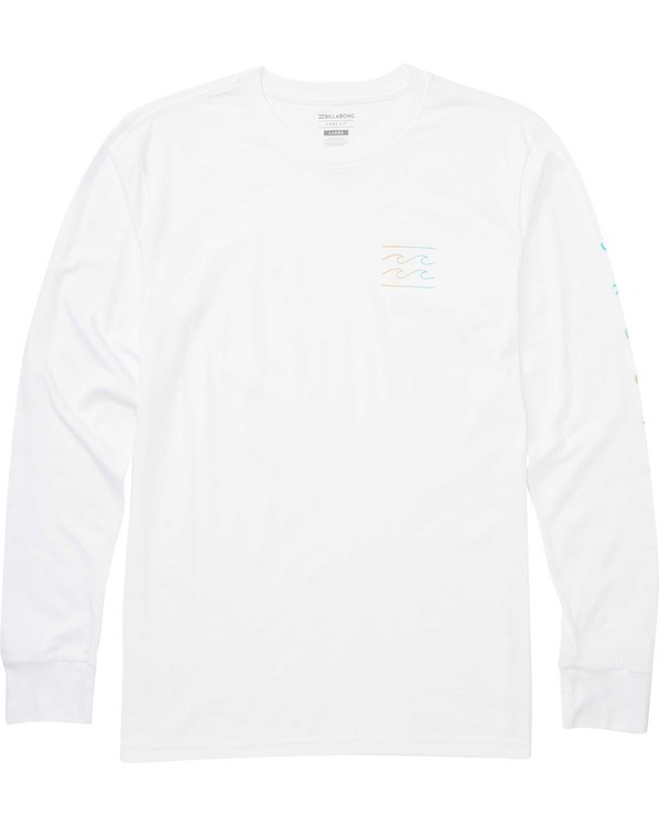 0 Boys' Unity Sleeves Long Sleeve Tee White B405TBUS Billabong