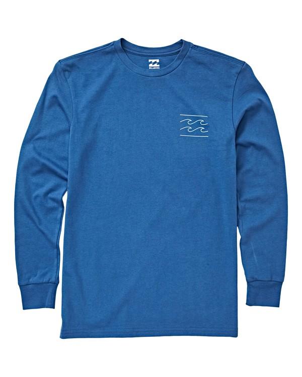 0 Boys' Unity Long Sleeve T-Shirt Blue B405VBUN Billabong