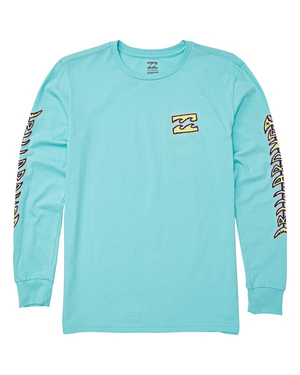 0 Boys' Fishbone Long Sleeve T-Shirt Grey B405WBFI Billabong