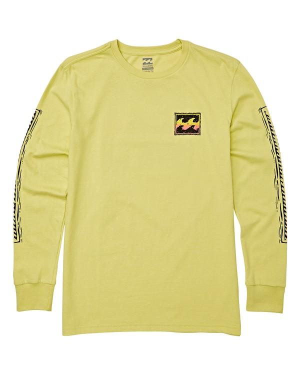 0 Boys' Fifty Wave Long Sleeve T-Shirt Green B405WBFW Billabong