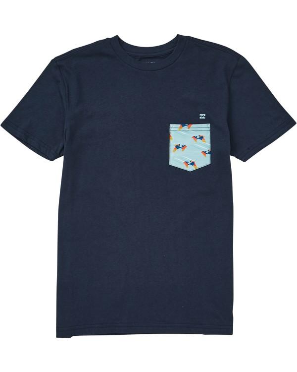 0 Boys' Team Pocket Tee Blue B431QBTP Billabong