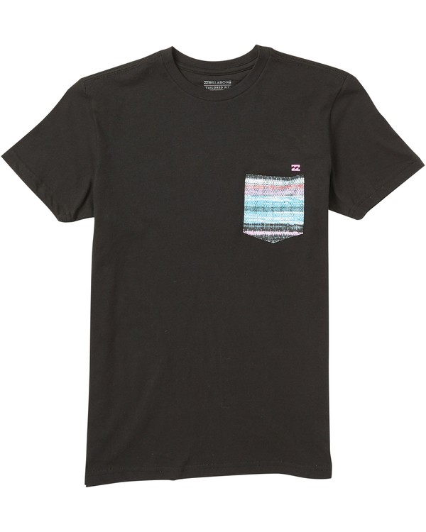 0 Boys' Team Pocket T-Shirt Black B431SBTP Billabong
