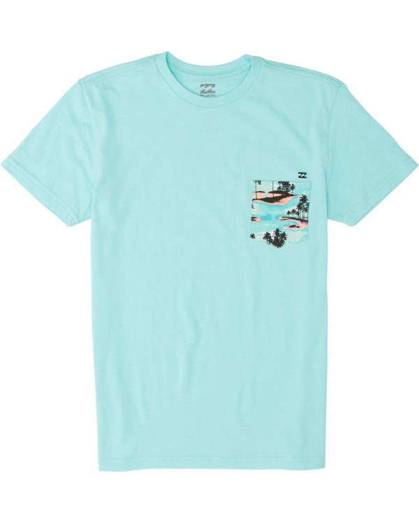 0 Boys' Team Pocket Short Sleeve T-Shirt Grey B4331BTP Billabong