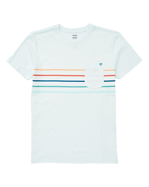 0 Boys' Spinner Tee Blue B433UBSP Billabong