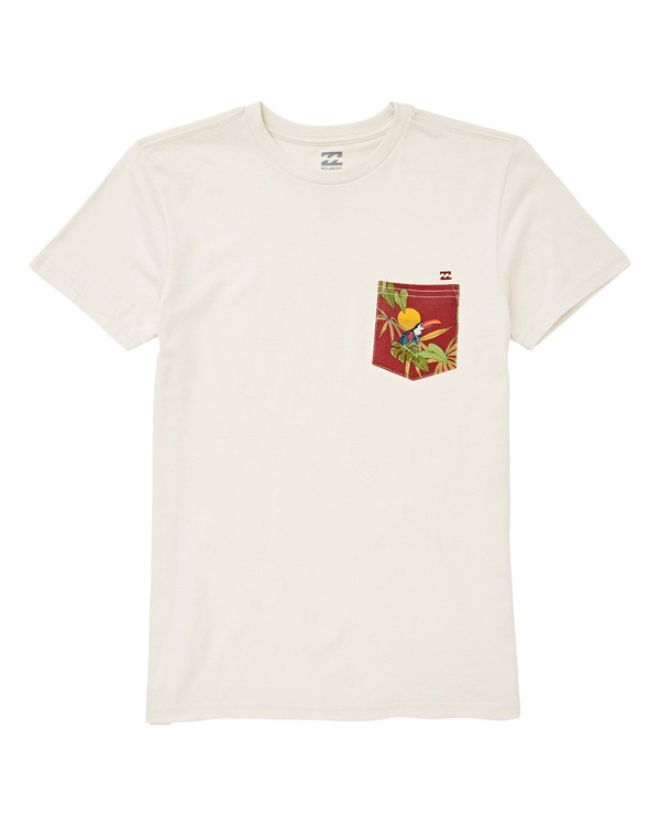 0 Boys' Team Pocket T-Shirt White B433UBTE Billabong