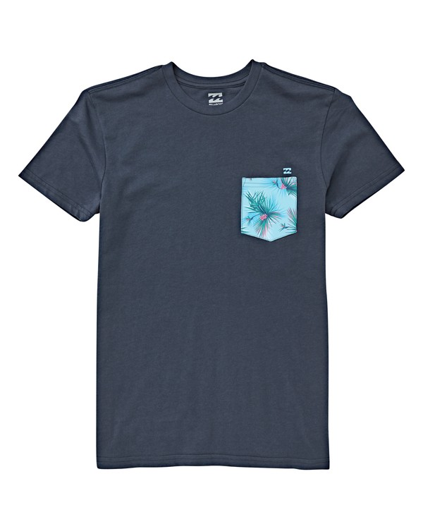 0 Boys' Team Pocket T-Shirt Blue B433VBTE Billabong