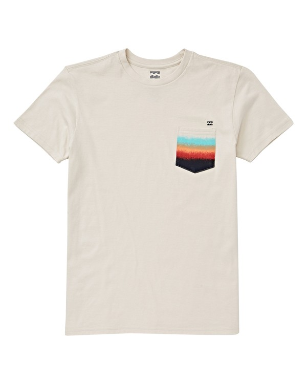 0 Boys' Team Pocket T-Shirt White B433VBTE Billabong