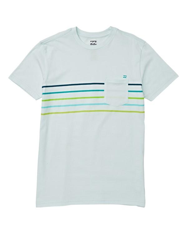 0 Boys' Team Pocket Short Sleeve T-Shirt Blue B433WBSP Billabong