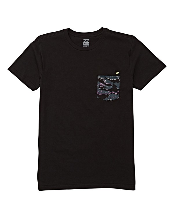 0 Kids' Access Short Sleeve T-Shirt Black B433WBTP Billabong
