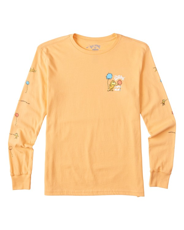 0 Boys' Lorax Long Sleeve T-Shirt Grey B4362BLO Billabong