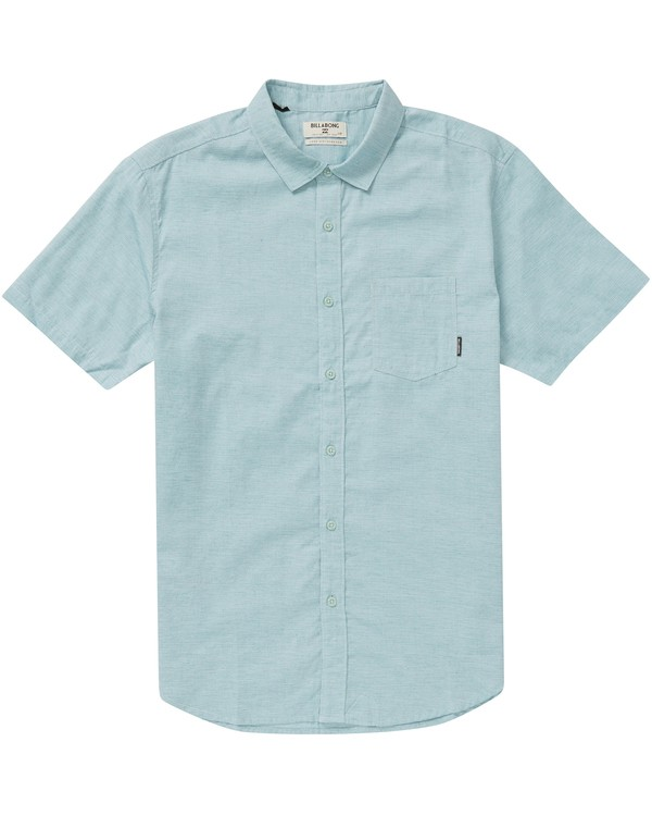 0 Boys' All Day Helix Short Sleeve Shirt  B500NBAL Billabong