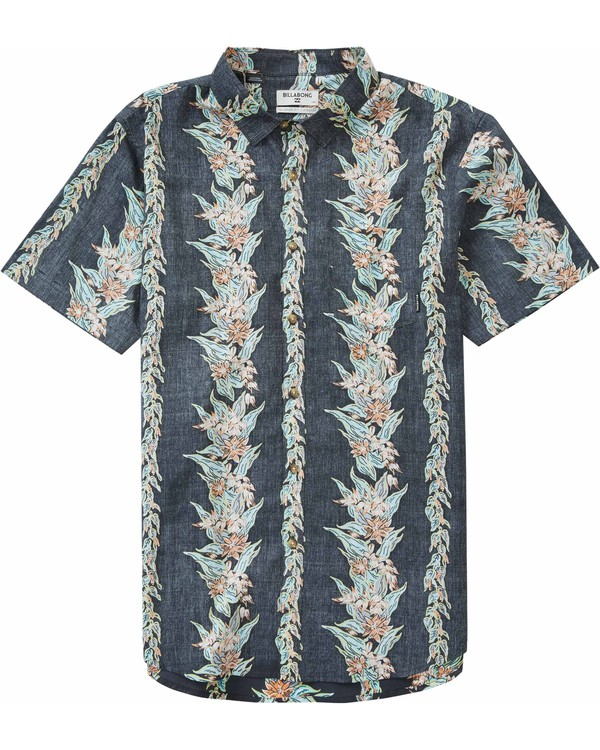0 Boys' Sundays Floral Short Sleeve Shirt  B501LSUF Billabong