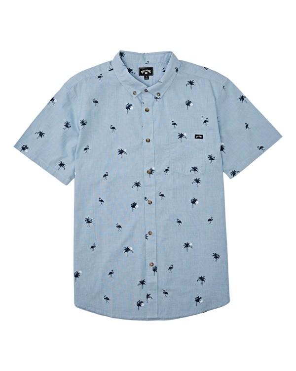 0 Boys' Sundays Mini Short Sleeve Shirt Brown B5031BSM Billabong