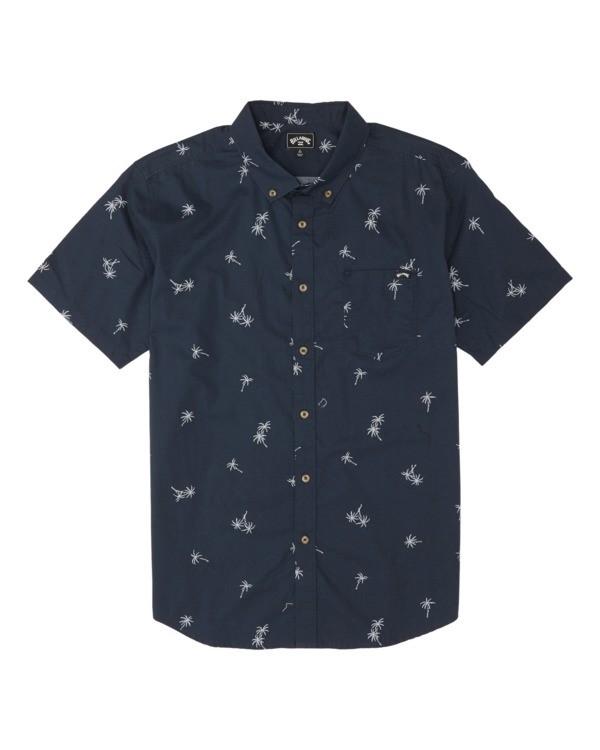 0 Boys' Sundays Mini Short Sleeve Shirt Blue B5031BSM Billabong