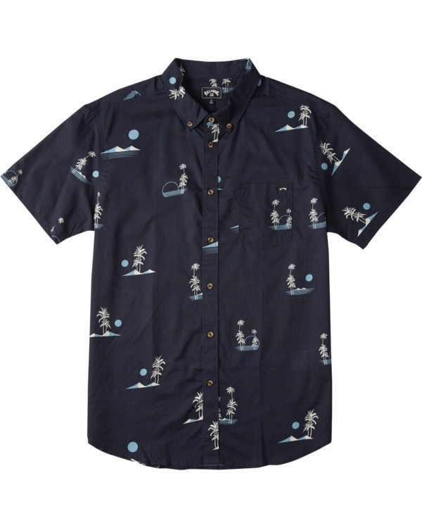 0 Boys' Sundays Mini Short Sleeve Shirt Blue B5033BSM Billabong