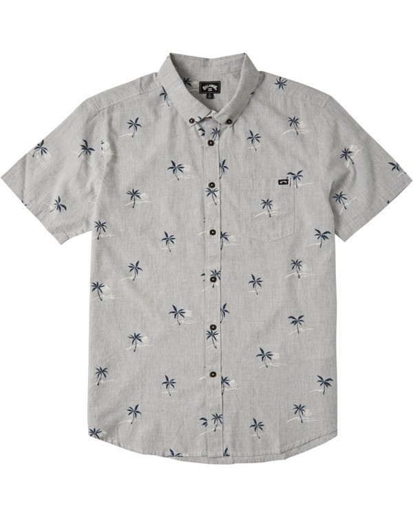 0 Boys' Sundays Mini Short Sleeve Shirt Grey B5033BSM Billabong