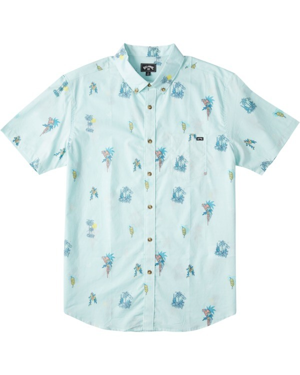 0 Boys' Sundays Mini Short Sleeve Shirt Green B5033BSM Billabong