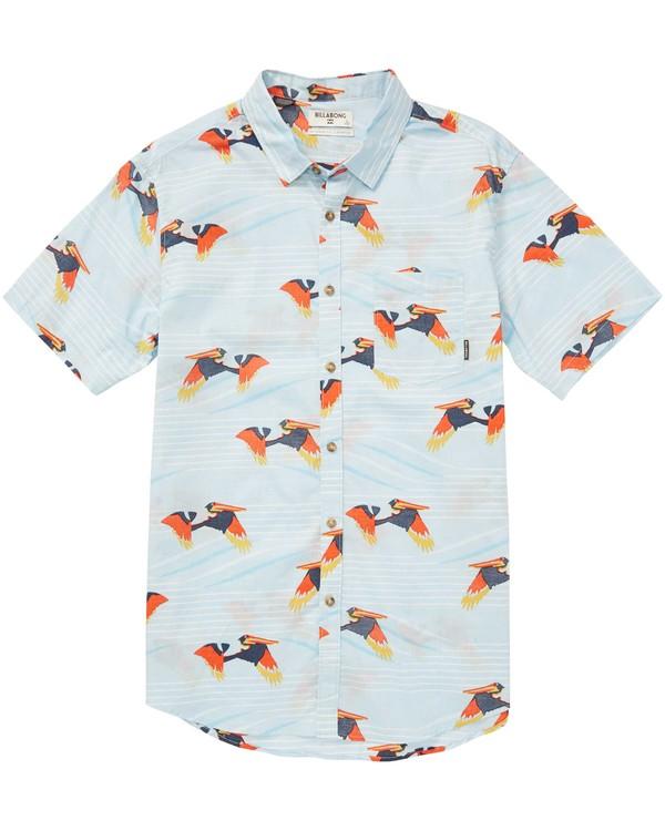 0 Boys' Sundays Floral Short Sleeve Shirt  B503QBSF Billabong