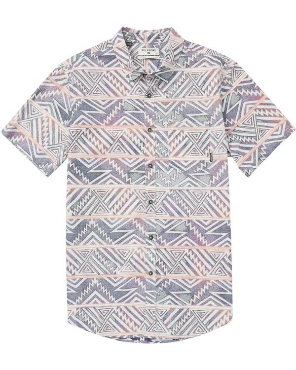 0 Boys' Sundays Floral Short Sleeve Shirt Purple B503QBSF Billabong