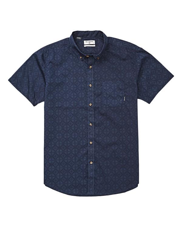 0 Boys' Sundays Mini Short Sleeve Shirt Blue B503TBSM Billabong