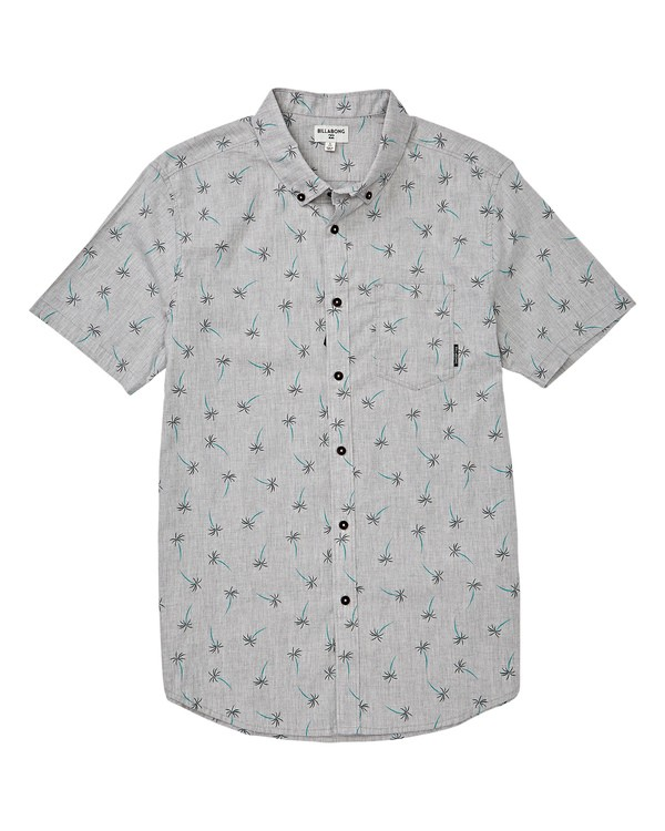 0 Boys' Sundays Mini Short Sleeve Shirt Grey B503VBSM Billabong