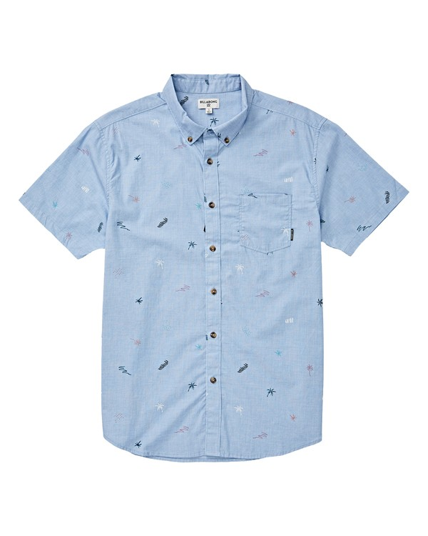 0 Boys' Sundays Mini Short Sleeve Shirt Blue B503VBSM Billabong
