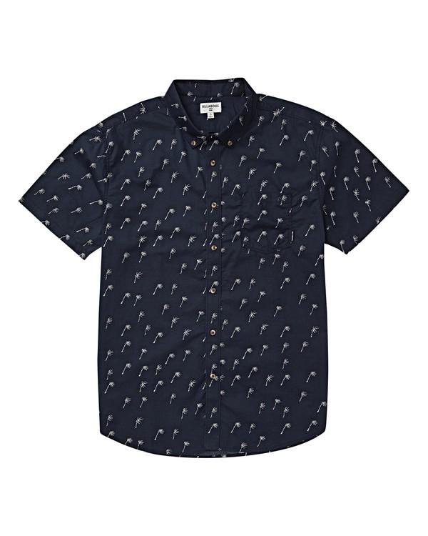 0 Boys' Sundays Mini Short Sleeve Shirt Blue B503VBSM Billabong