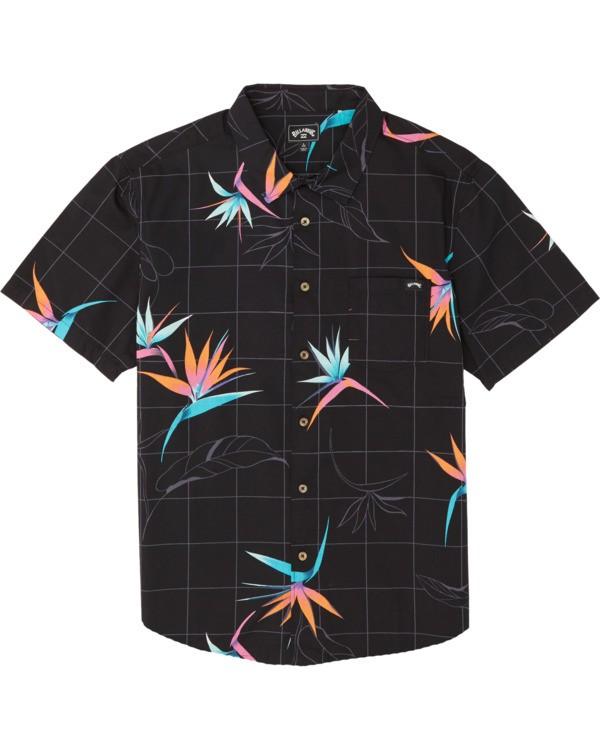 0 Boys' Sundays Floral Short Sleeve Shirt Orange B5041BSF Billabong