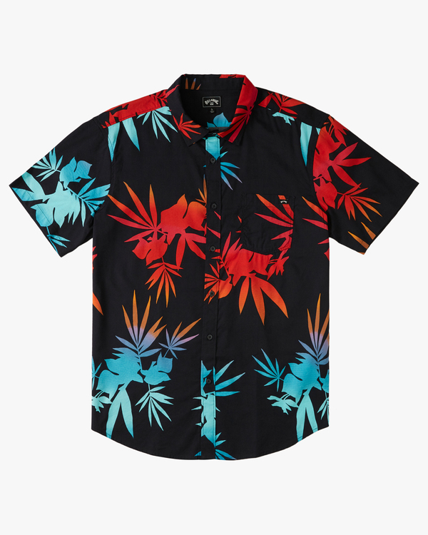 0 Boys' Sundays Floral Short Sleeve Shirt Multicolor B5043BSF Billabong