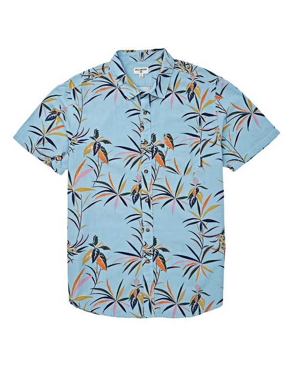 0 Boys' Sundays Floral Short Sleeve Shirt Blue B504VBSF Billabong