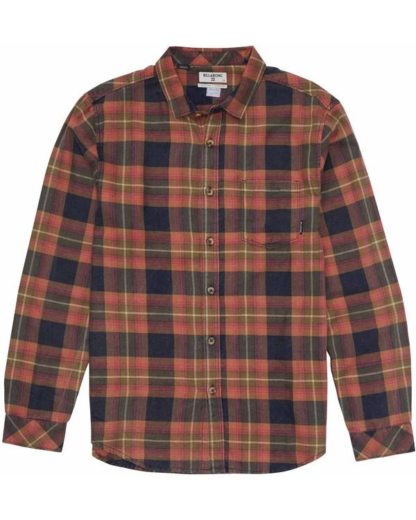 0 Boys' Freemont Flannel Shirt Blue B505MFRE Billabong