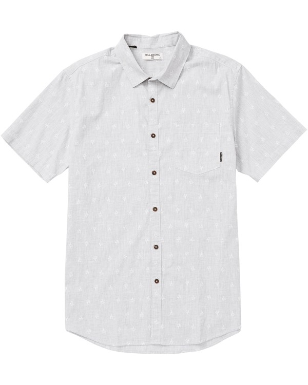 0 Boys' Sundays Mini Printed Short Sleeve Shirt Grey B505SBSM Billabong