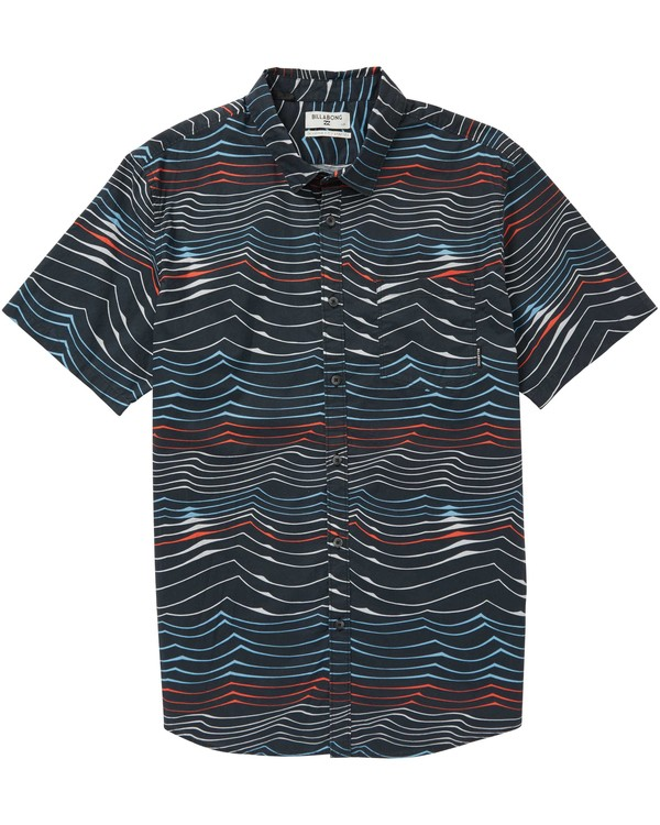 0 Boys' Sundays Lines Short Sleeve Shirt  B506PBSL Billabong
