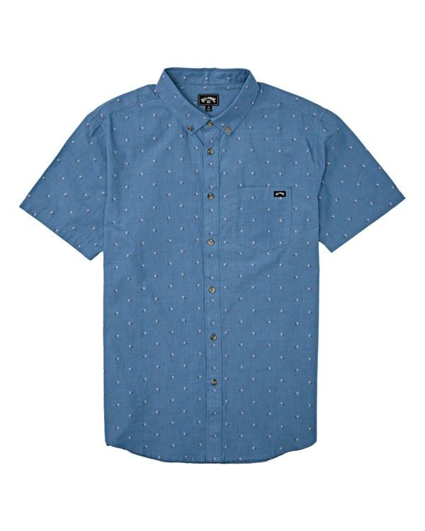 0 Boys' All Day Jacquard Shirt Grey B5071BSJ Billabong