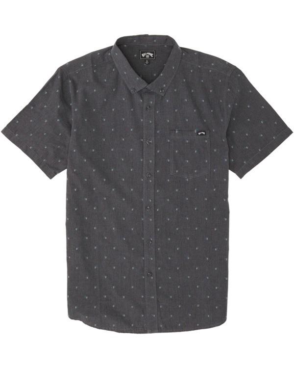 0 Boys' All Day Jacquard Short Sleeve Shirt Black B5073BSJ Billabong