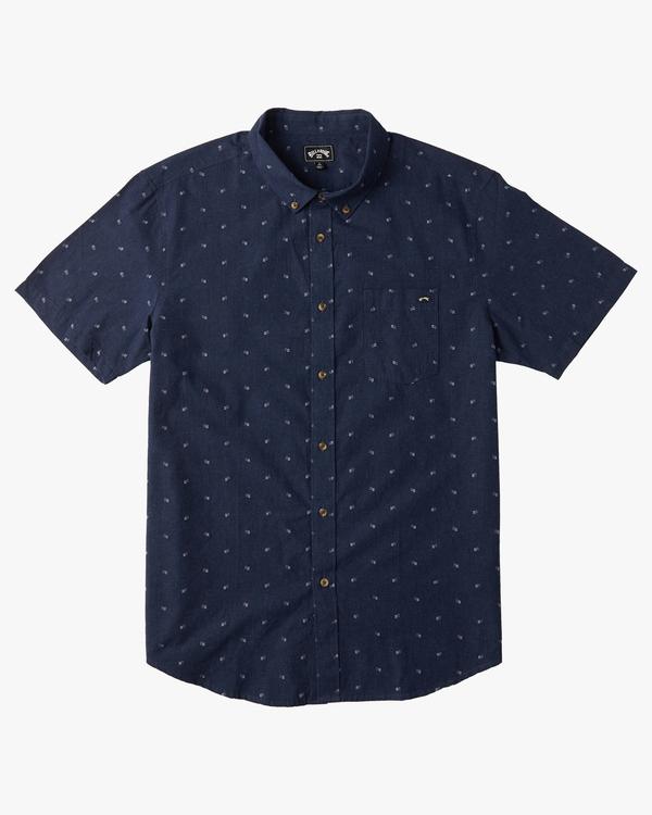 0 Boys' All Day Jacquard Short Sleeve Shirt Blue B5073BSJ Billabong