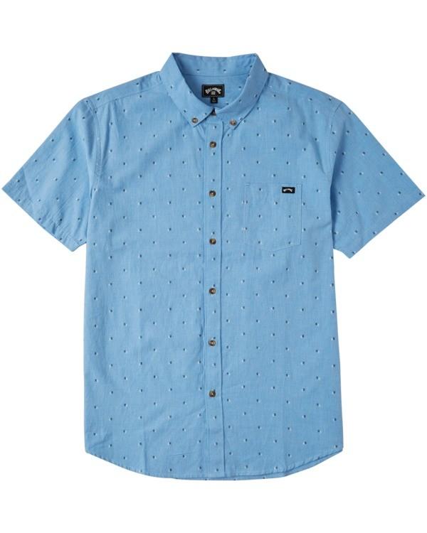0 Boys' All Day Jacquard Short Sleeve Shirt Purple B5073BSJ Billabong