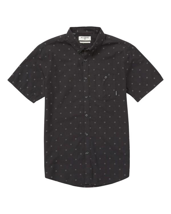 0 Boys' All Day Jaquard Short Sleeve Shirt Black B507PBSJ Billabong