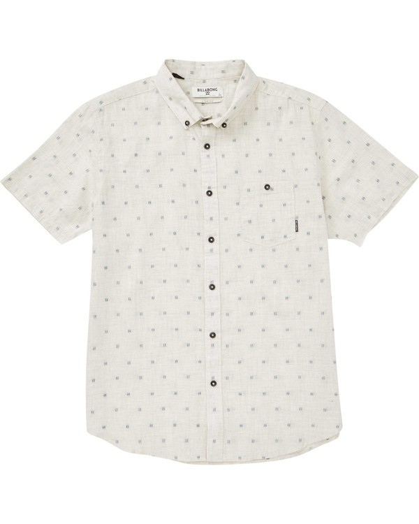 0 Boys' All Day Jaquard Short Sleeve Shirt Grey B507PBSJ Billabong