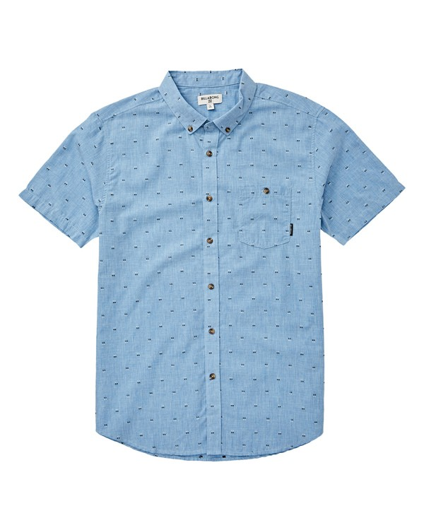 0 Boys' All Day Jacquard Short Sleeve Shirt Blue B507VBSJ Billabong