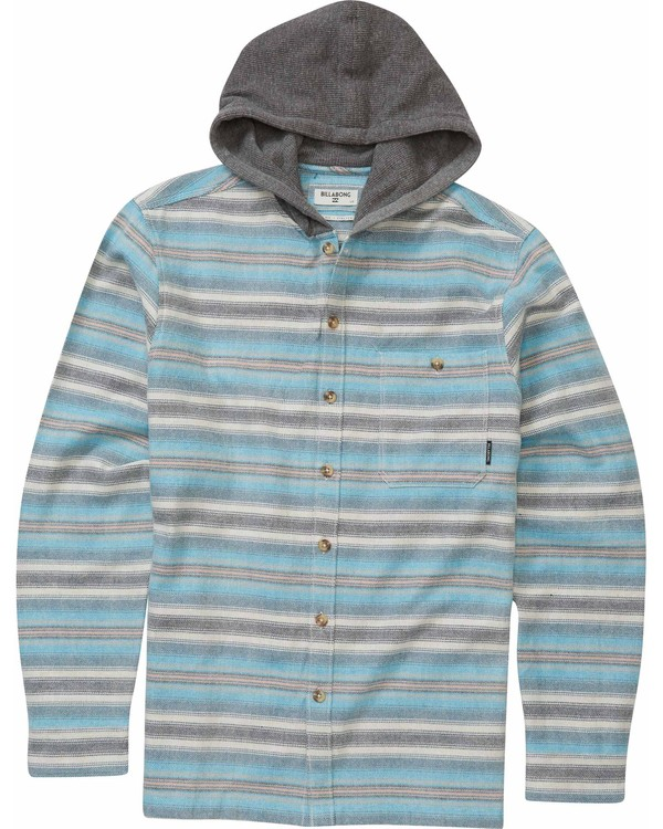 0 Boys' Baja Flannel Shirt Grey B509MBAJ Billabong